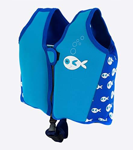Swimbest UK Swim Jacket with Strap (Blue Fish 25-30 Kg (Approx 5-7 Years))