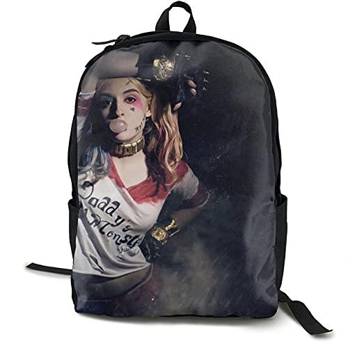 Suicide Squad Harley Quinn (10) Mochila de viaje impermeable para gimnasio, escuela, compras, yoga, senderismo, playa