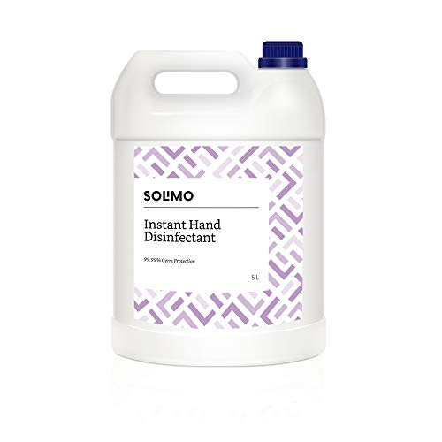 Amazon Brand - Solimo Instant Hand Disinfectant/Sanitizer Gel (70% Ethyl Alcohol), 5 L