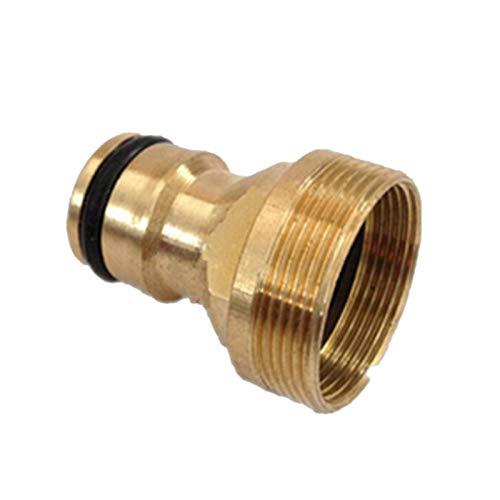 LHjin-Accesorio de latón Duradero, Latón Piezas de Conexión Rápida conexión de Tubos, grifos Conector estándar Lavadora, 1Pc Accesorios
