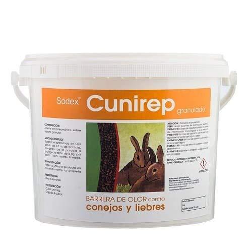 Repelente granulado para conejos y liebres | Protección eficaz para cultivos, huertos y jardines