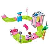 Barbie- Coffret The Go Station Lavage Petite Poupée, FHV91