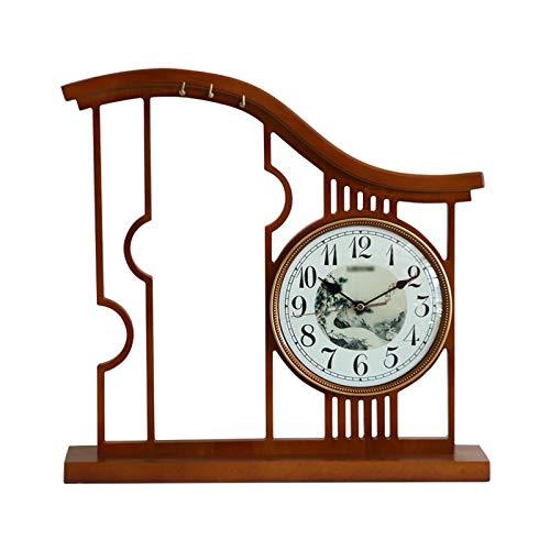 Fengshop Reloj Digital Reloj de Mesa Decorativo Simple y silencioso, Reloj de Escritorio de Numeral árabe con batería Grande para Sala de Estar, Estudio, Hotel, Oficina Despertador Digital