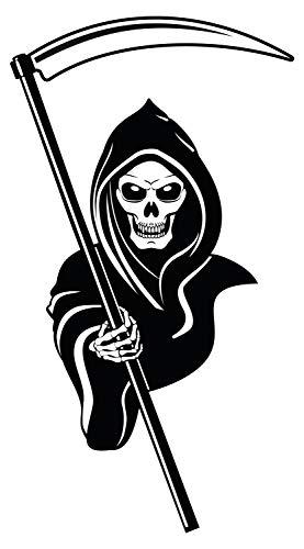 Wandtattoo Wandsticker Totenkopf Sensenmann Skelett zum Kleben Skull Wandtattoo
