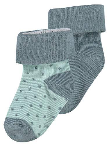 Noppies Unisex Baby U 2pack Dot Socken, Grün (Dark Green C185), Einheitsgr e EU