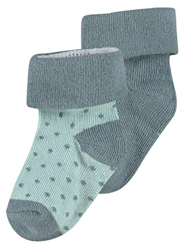 Noppies Baby-Unisex U 2pack Dot Socken, Grün (Dark Green C185), One Size (Herstellergröße: 6M-12M)