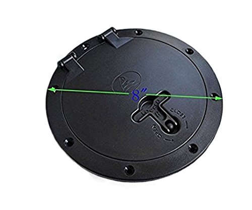 Quantity: 1PCS Color: black material: Material: PVC+ABS Outer diameter: Approx 21cm /8.2 inch. Inner diameter: Approx 15.6cm / 6.15 inch .Height: Approx 4.5cm / 1.8 inch Help to reduce UV damage to your hatch as well as minimize the light entering yo...