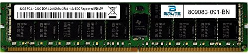 Brute Networks 809083-091-BN - 32GB PC4-19200 DDR4-2400Mhz 2Rx4 1.2v ECC Registered RDIMM (Equivalent to OEM PN # 809083-091)
