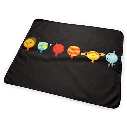 Voxpkrs Diaper Changing Pad Diaper Change Mat Eight Planets Solar System 25.5 x 31.5 inches