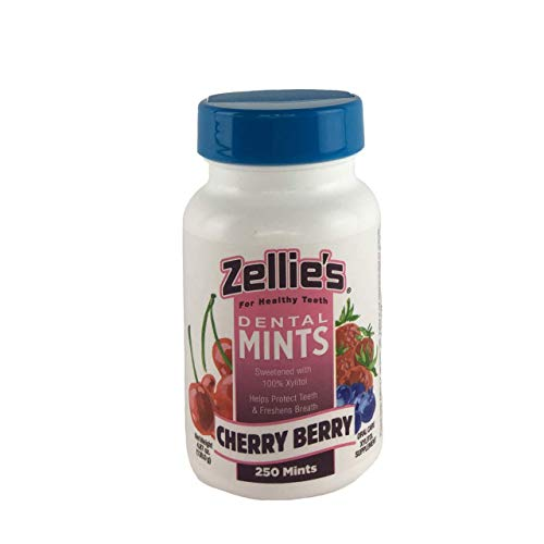Zellies Xylitol Sweetened Cherry Berry Mints, 250 Count Jar