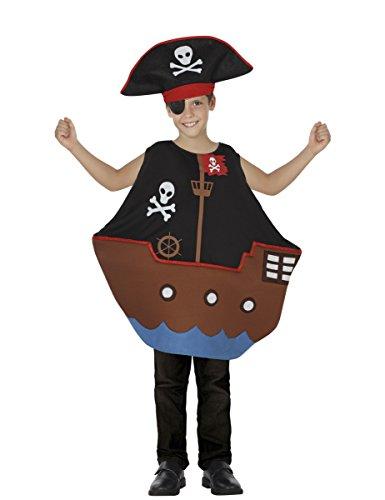 Atosa-26696 Disfraz Barco Pirata, Color Negro, 10 a 12 años (26696)
