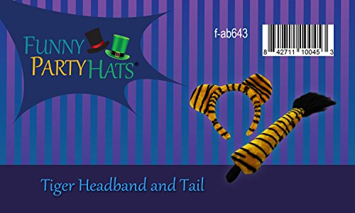 Funny Party Hats Lion Ears and Tail Set - Lion Costume - Ears Headband