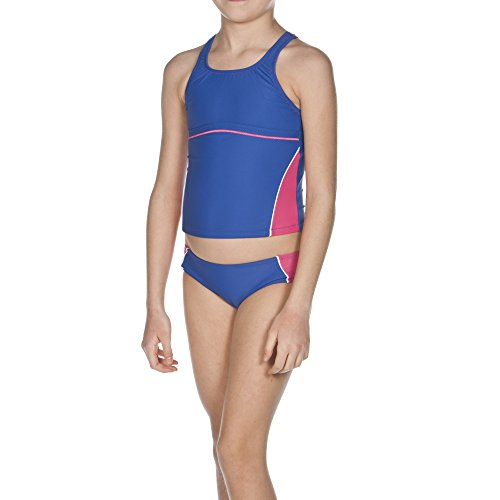 ARENA Mädchen Tankini Sporty 1, Royal/Fresia Rose/White, 164