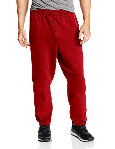 Hanes Men's EcoSmart Fleece Sweatpant, Deep Red, Medium (Pack of 2)