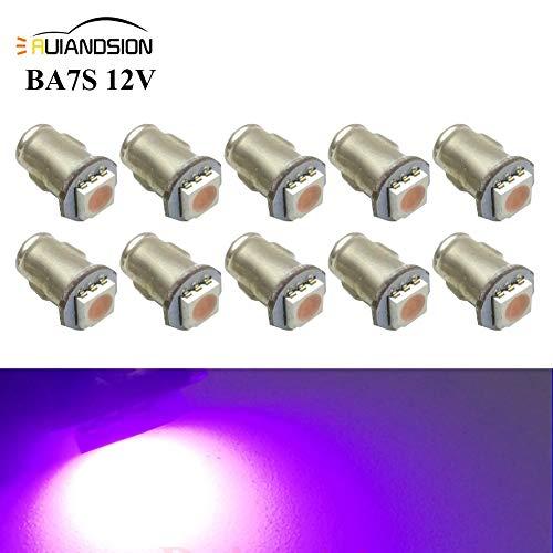 Ruiandsion 10x BA7S LED Éclairage intérieur pour auto 12V 5050 1SMD 30lm, rose