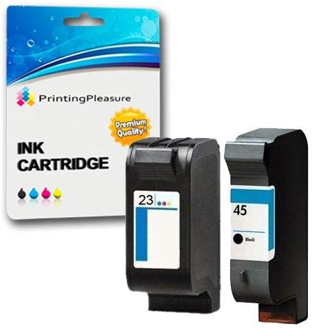 Printing Pleasure 2 Druckerpatronen für HP Deskjet 1120c 1120cxi 1120cse 1125c 710c 712c 720c 722c 815c 830c 880c 882c 890c 895cxi Copier 140 145 270   kompatibel zu HP 45 (C51645AE) & HP 23 (C1823DE)
