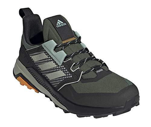 adidas Men's Terrex Trailmaker Hiking Shoe, Green Oxide/Hazy Green/Crew Orange - 8
