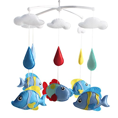 [Aquarium Fisch] Infant Musical Mobile, Kinderzimmer Mobile, Baby Mobile