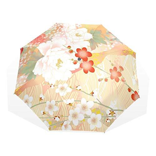 Sonnenschirm Regenschirm Hochwertiger Faltautomatischer Regenschirm Regen Frauen Anti-Uv-Schutz Sonnenschutz Sonnenschirm Winddicht Gelbe Blumen Regenschirm Nichtautomatisch