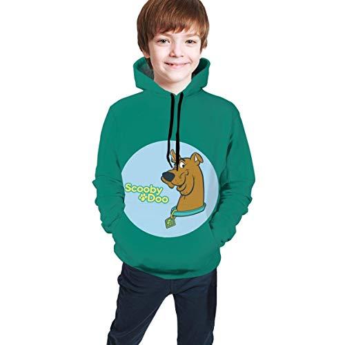 Long Sleeve Pullover Hoodies/Hooded Sweatshirt Teen Sweate SCO-Oby-Do-O Unisex Children Teen Sweate with Pocket Black