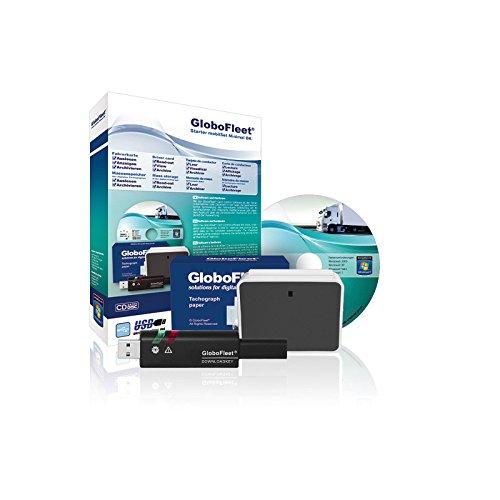 GloboFleet Starter Set Minimal DK Mobil für selbstfahrende Unternehmen zum auslesen und archivieren der Fahrerkarte mit Chipkartenleser und Downloadkey
