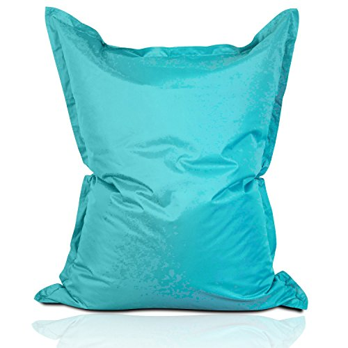 Lumaland Luxury Riesensitzsack XXL Sitzsack 380l Füllung 140 x 180 cm Indoor Outdoor Aquamarin