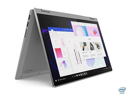 Lenovo IdeaPad Flex 5i Laptop 35,6 cm (14 Zoll, 1920x1080, Full HD, WideView, Touch) Convertible Notebook (Intel Core i3-1115G4, 8GB RAM, 256GB SSD, Intel UHD-Grafik, Windows 10 Home S) silber