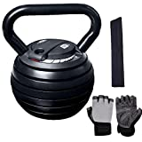 YOUTH BURST Kettlebell Set De Kettlebells Kettlebells Ajustables Kettlebells Inteligentes Ajustables 7 En 1 hasta 18KG Kettlebells Ajustables Dial Home Fitness Gym Equipment (2-9kg / 5-18kg),40LB-D
