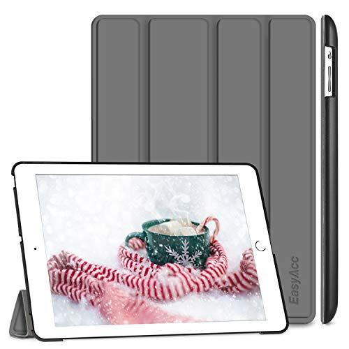 EasyAcc Hülle für iPad 4 iPad 3 iPad 2, Ultra Dünn Schutzhülle mit Ständer Funktion eingebautem Magnet Einschlaf/Aufwach Kompatibel für iPad 2/3/4 - Dunkelgrau