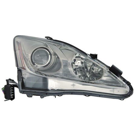For Lexus IS 250/350 2011-2013/IS 250C/350C w/F Sport Package 2013-2015 Headlight Assembly Unit Halogen w/o Auto Level Lamps Type Passenger Side LX2519131