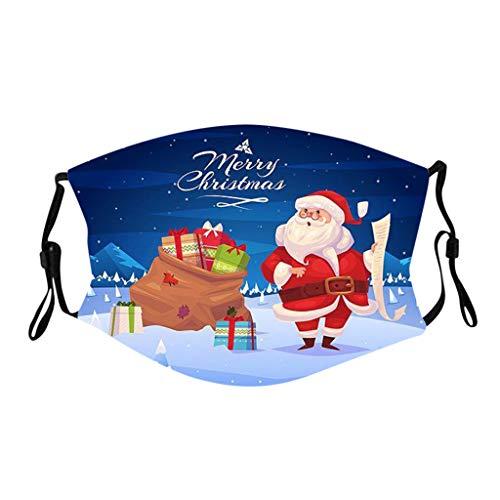 Lialbert 5 Stück Mundschutz Waschbar mit Weihnachten Motiv Maske Bandana Lustige...