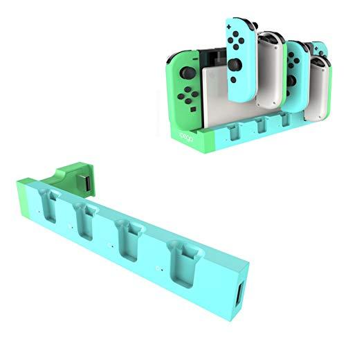MJS para Switch Joy con Controller Charger Dock Stand Station Holder para Nintendo Switch NS Joy-con Game Soporte Dock para Cargar (Color : Green and Blue)