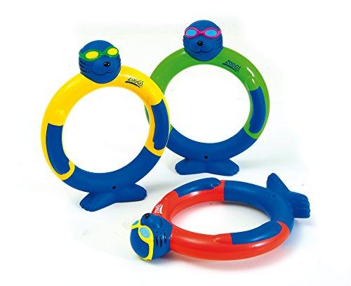 Zoggs - Anillos de Juguete acuáticos para Perder el Miedo a Nadar (a Partir de 3 años), Varios Juguetes