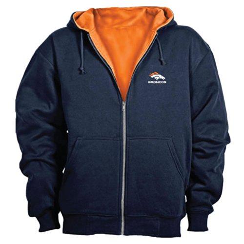Dunbrooke NFL Craftsman Full Zip Thermal Hoodie, Denver Broncos - X-Large
