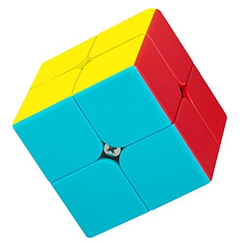 Mamowla Cubo de Velocidad 2x2 Cubo Magico Sans Autocollant Speed Cube Rompecabezas 3D Magic Cube 2x2x2 para Niños y Adultos Juguetes Regalos para Principiantes