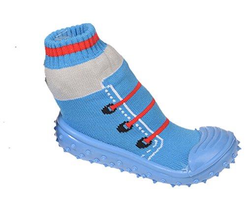 Miobo Baby Hausschuhe Babysocken ABS Gummisohle Babyschuhe Antirutsch Schuhe Blau 19