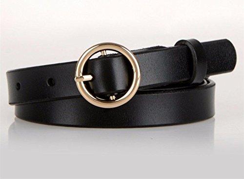 SAIBANGZI Ceintures de Femmes Ladies' Boucles Ceintures Jeans Fashion Wear Jeans Tide. S Black