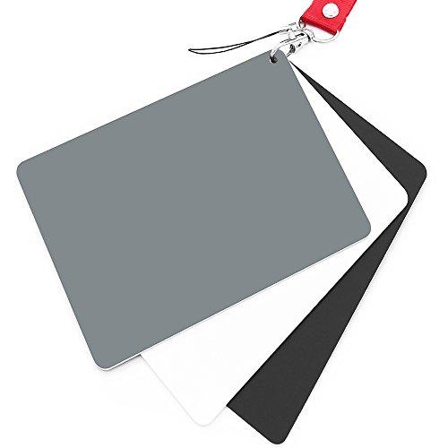 Anwenk Carta grigia Carta di bilanciamento del bianco Carta fotografica con esposizione del 18% Calibrazione personalizzata Fotocamera Video, DSLR e pellicola, 5,3 'x 7,28' (grande)