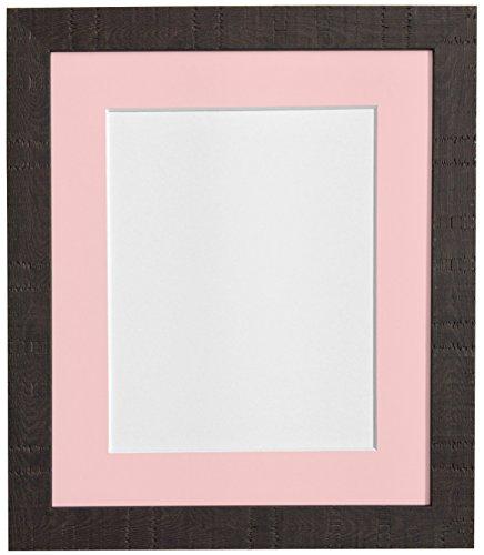 FRAMES BY POST 9 x 7 cm korrel diepe fotolijst met houder, voor 7, roze x 13 cm fotogrootte), donkerbruin