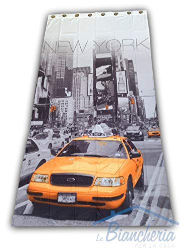 tex family Amerika/New York City Taxi Vorhang, handgefertigt, 140 x 280 cm