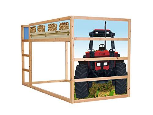 Stikkipix Trecker Möbelfolie selbstklebend/Aufkleber - IM135 - passend für das Kinderzimmer Hochbett KURA von IKEA - Möbel Nicht Inklusive