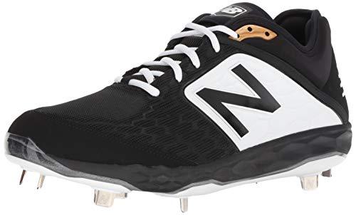 New Balance Men's 3000 V4 Metal Baseball Shoe, Black/White, 11 M US