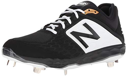 New Balance Men's 3000 V4 Metal Baseball Shoe, Black/White, 11 M US