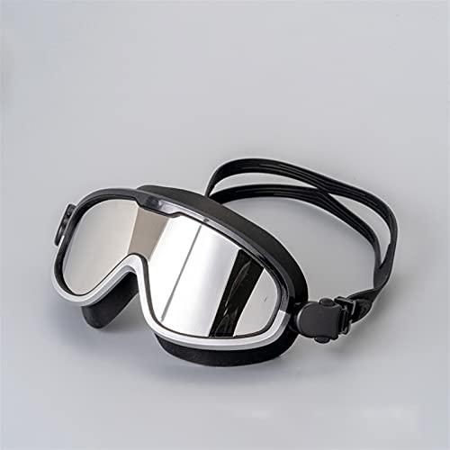 LANGTAOMY Gafas de Natación Anti-Niebla UV Natación Gafas Big Frame Swim Gafas Professional Natación Mascarilla Impermeable Adulto para Hombres y Mujeres Gafas (Color : D)