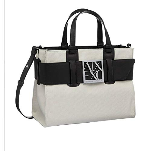 Armani Exchange Womens Susy BIG TOTE, BEIGE, ONE SIZE