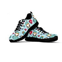 Material:Lightweight RB+MD sole+Air mesh upper, sturdy and elastic Lace up casual running shoes, Comfortable, breathable and lightweight! Great for outdoor walking, running and traveling...etc Running Walking Sports Shoes Size Chart(Not Amazon Size C...
