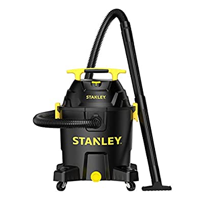 STANLEY SL18701P-10A Wet/Dry Vacuum,10 Gallon 6.0 Peak HP, 10Gallon, Black