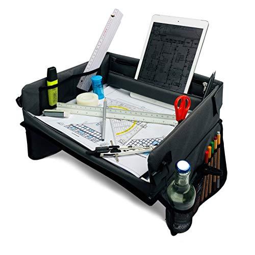 Broham Reisetisch Auto Kinder - Laptopkissen, Malunterlage, Arbeitsunterlage für Jung & Alt, Zeichenplatte - Autotisch für Kindersitz (Anthrazit)