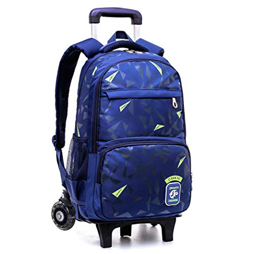 Wheeled Rolling Backpack,Rolling Backpack for Kids, Trolley Bags for Kids School-C-2wheel
