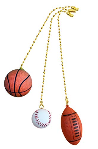 Basketball, Baseball, Football Sports fan Pull with beaded...